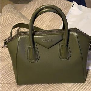 Givenchy Atigona  Small dark green bag